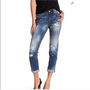 NWT Miss Me Distressed Boyfriend Ankle Jeans